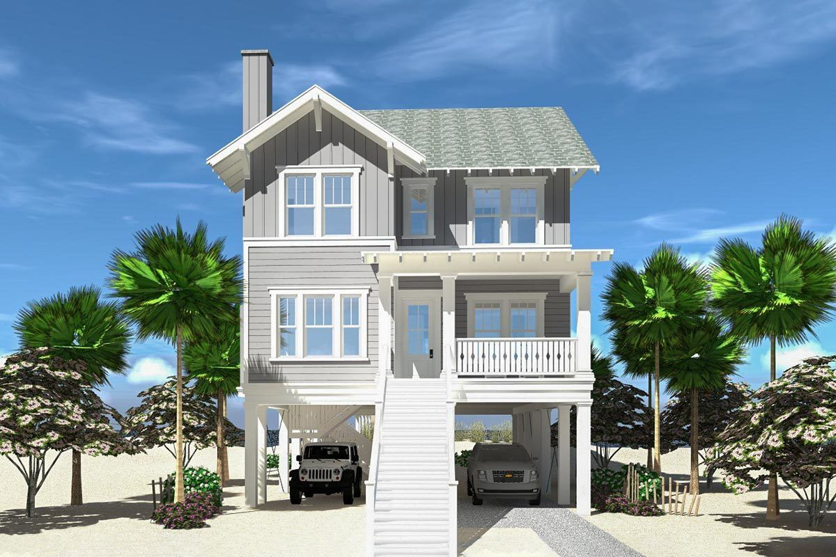 Plan 44163td Exquisite Vacation House Plan With Boardwalk To Beach In 2021 Beach House Floor Plans Vacation House Plans Beach House Flooring