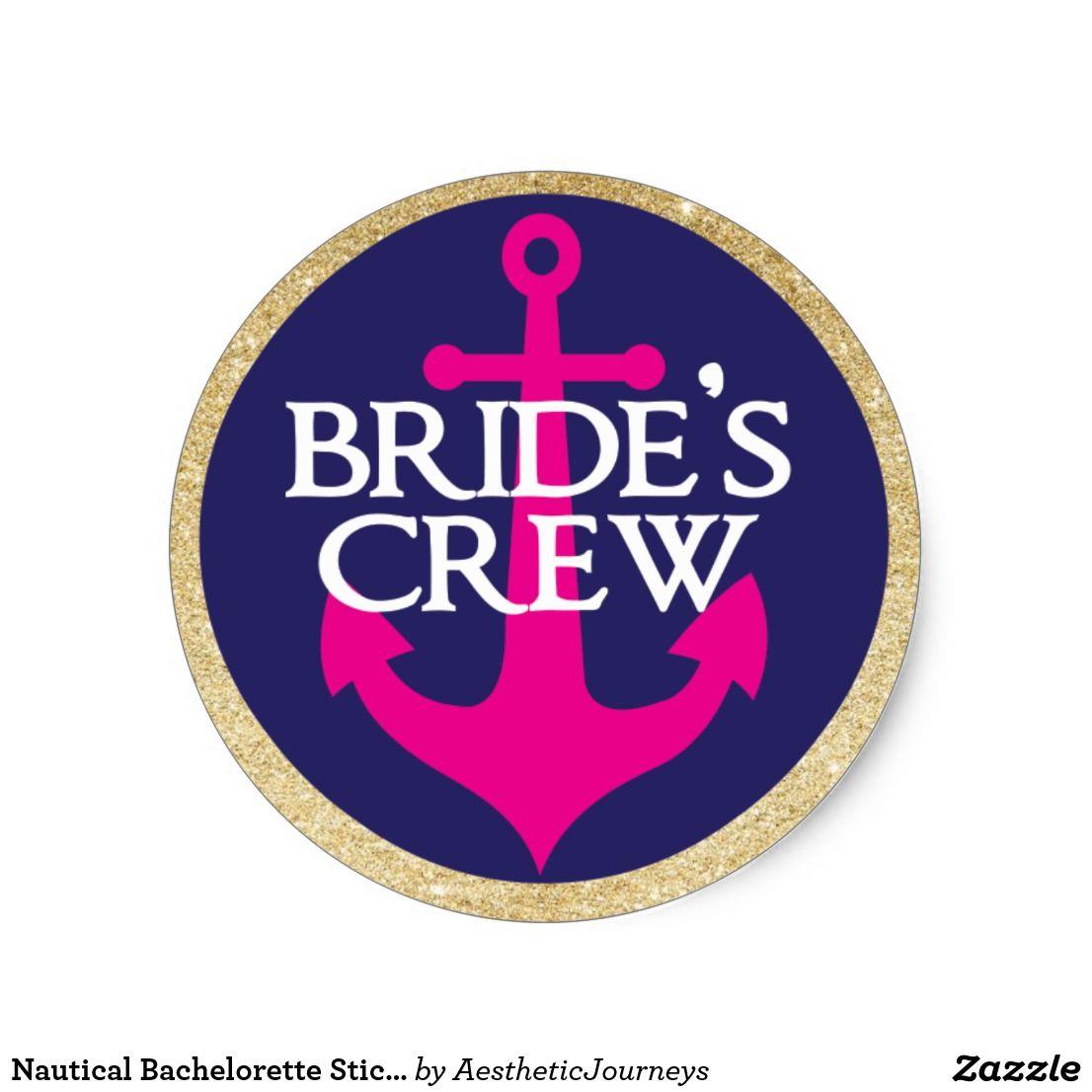 monogram wedding envelope seals sticker%0A Nautical Bachelorette Sticker Last Sail Classic Round Sticker  Nautical  BacheloretteRound Stickers