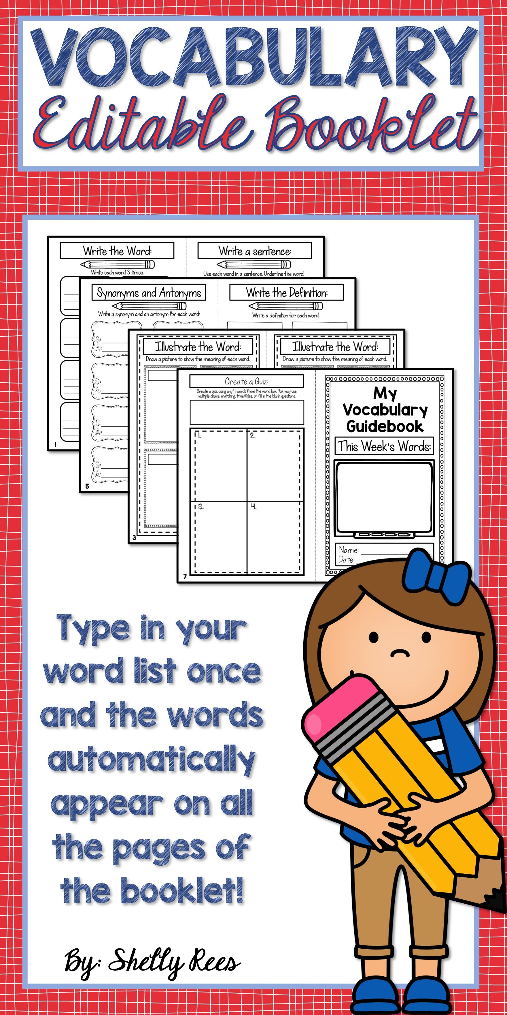 Vocabulary Activities For Any Words
