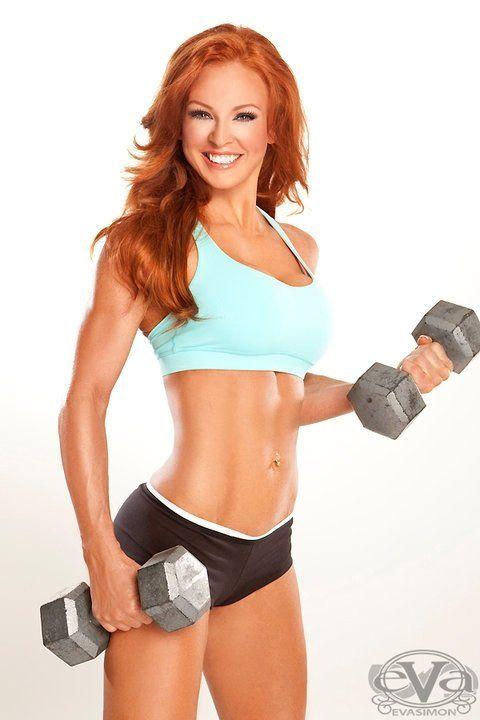 Female girls Redhead fitness