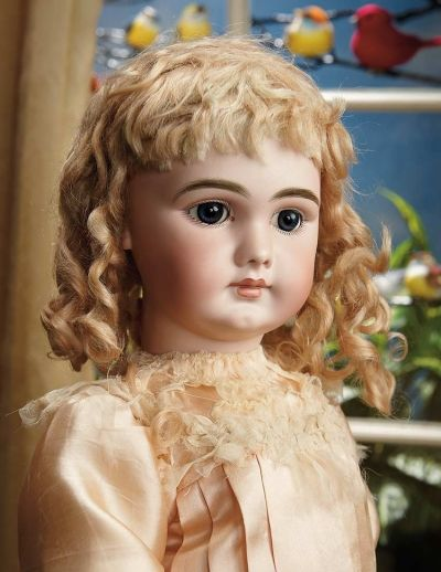 """Sanctuary: A Marquis Cataloged Auction of Antique Dolls - March 19, 2016: French Bisque Bebe """"Dep"""" with Closed Mouth, Size 12"""