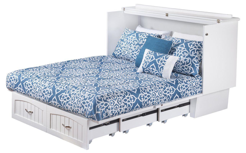 Graham Queen Storage Murphy Bed With Mattress Kitchen In