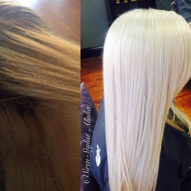 """We LOVE this """"go for it"""" blonde by @alishajaredhairartistry. For the how to, go to modernsalon.com and search Alisha Jared."""