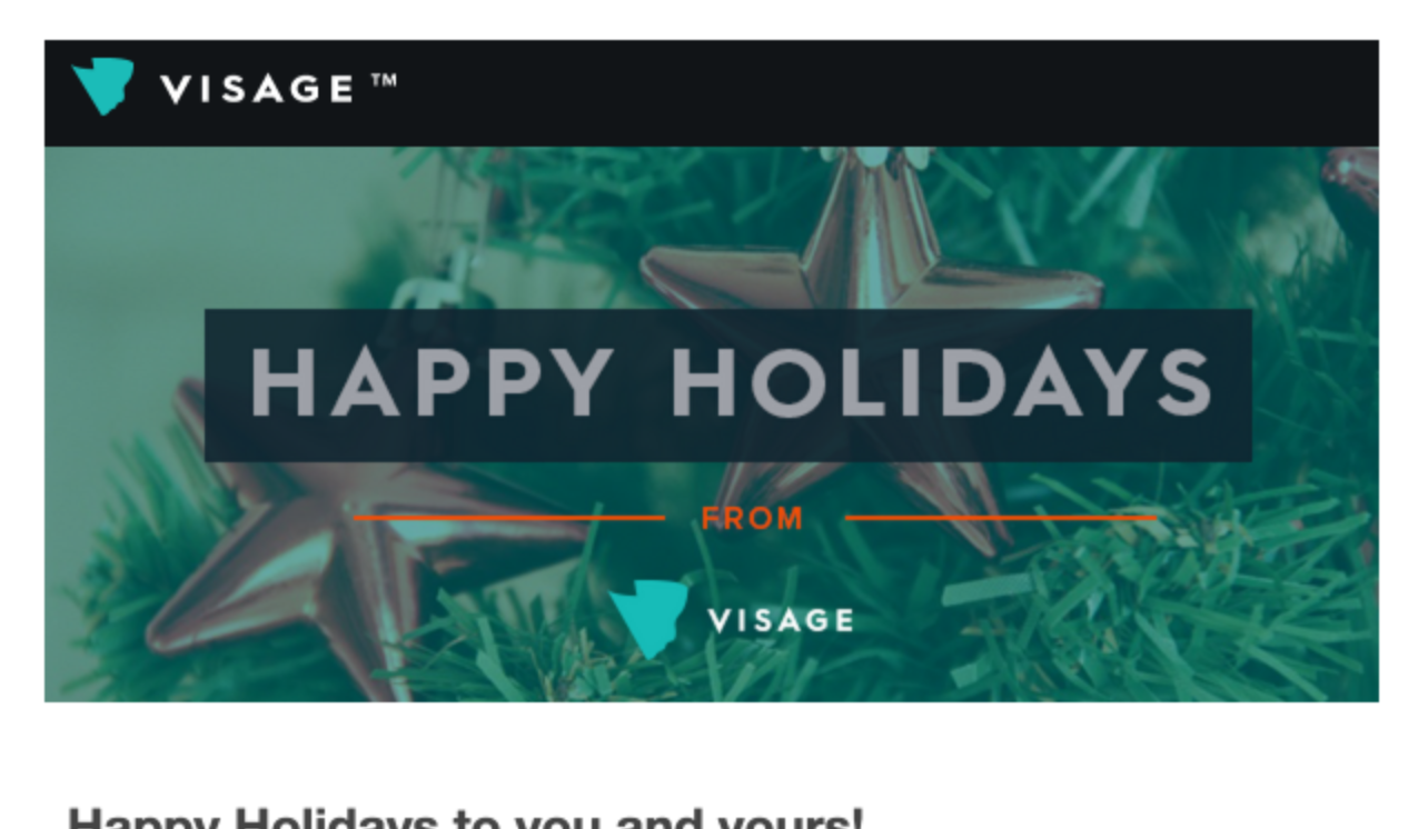 Happy Holidays Email Template Snapretail Email Template
