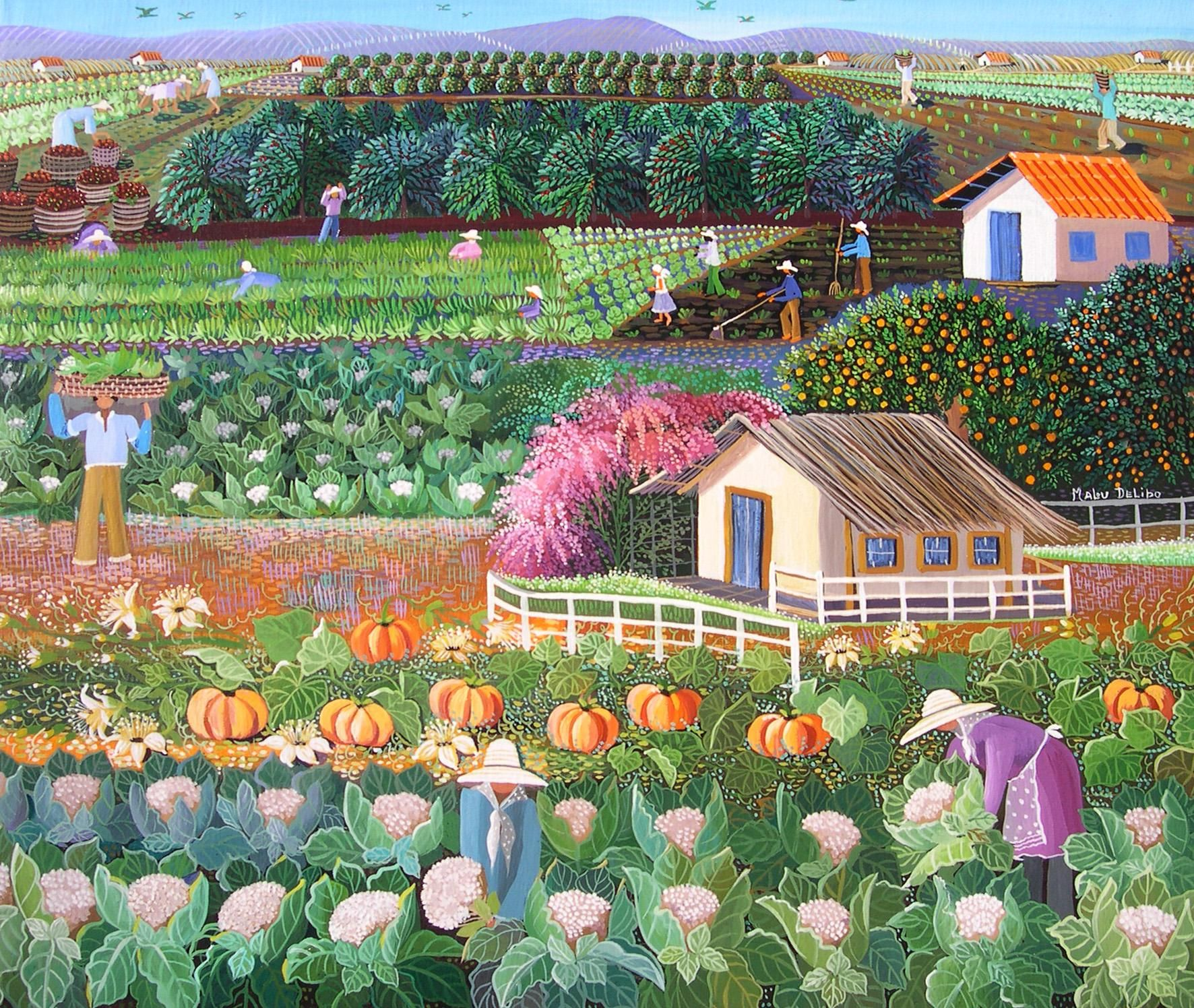 Guadalupe S Farm By Malu Delibo With Images Naive Art Art