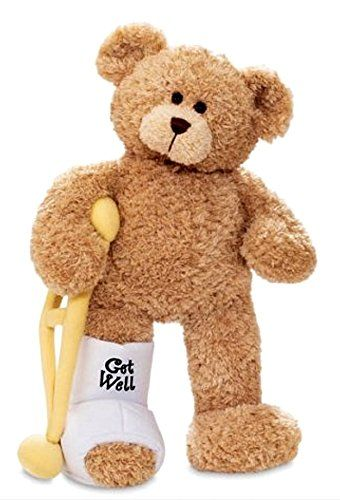 Feeling Poorly Then This Soft Brown Bear Is Sure To Get You Feeling Better The Brown Teddy Bear Is Super Soft Wit Teddy Bear Crafts Get Well Gifts Broken Leg