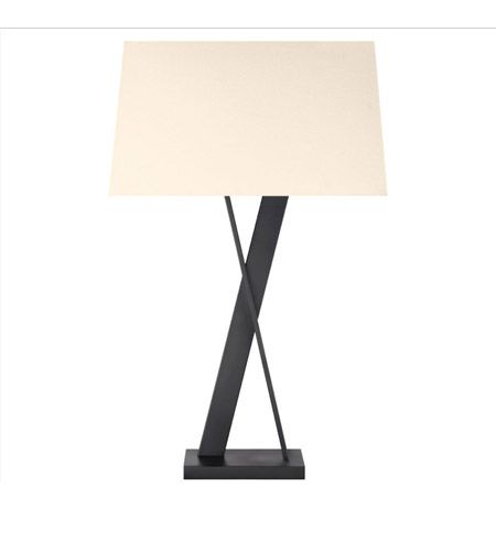 Lights · sonneman x lamp 2 light table lamp in satin black 4660 25 lightingnewyork