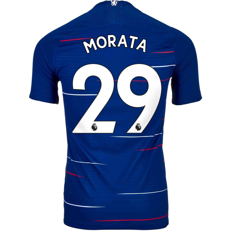 2018 19 Nike Alvaro Morata Chelsea Home Match Jersey Jersey Atletico Madrid Camisas De Futbol Jersey Bayern Munich