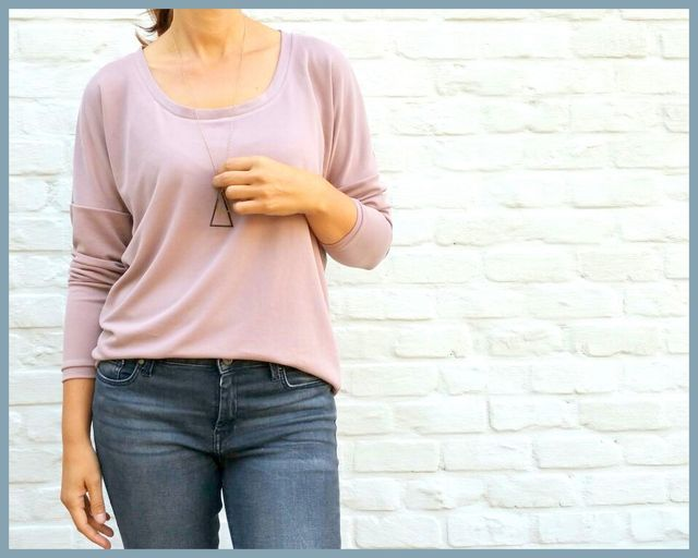 Patroon tof vrouwen T-shirt via Duitse blog Näh-Connection, leuke patronen!