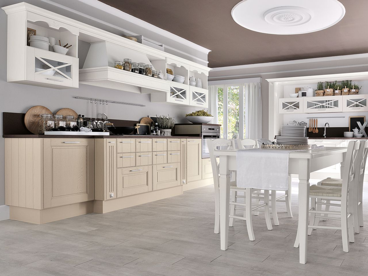 The Beauty And Strength Of Solid Wood For A Kitchen With A Classical Feel That Can Also Be Used In A Progetti Di Cucine Mobili Cucina Legno Cucina Shabby Chic