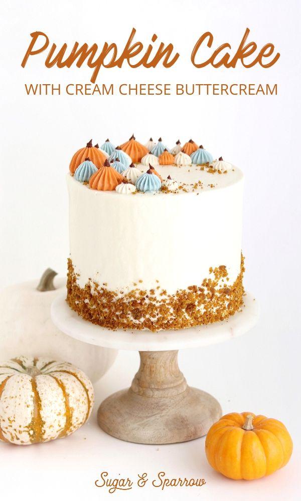 Pumpkin Layer Cake with Cream Cheese Buttercream #pescatarianrecipes