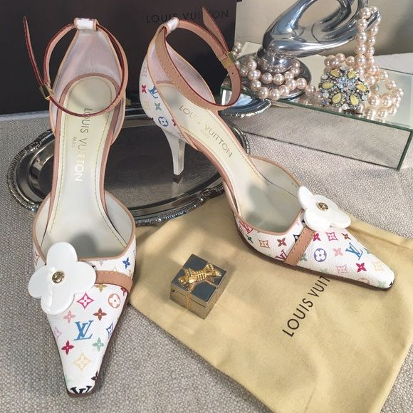 462713fe853c Spotted while shopping on Poshmark  Louis Vuitton⚜Limited Edition White  Monogram Pumps!  poshmark  fashion  shopping  style  Louis Vuitton  Shoes