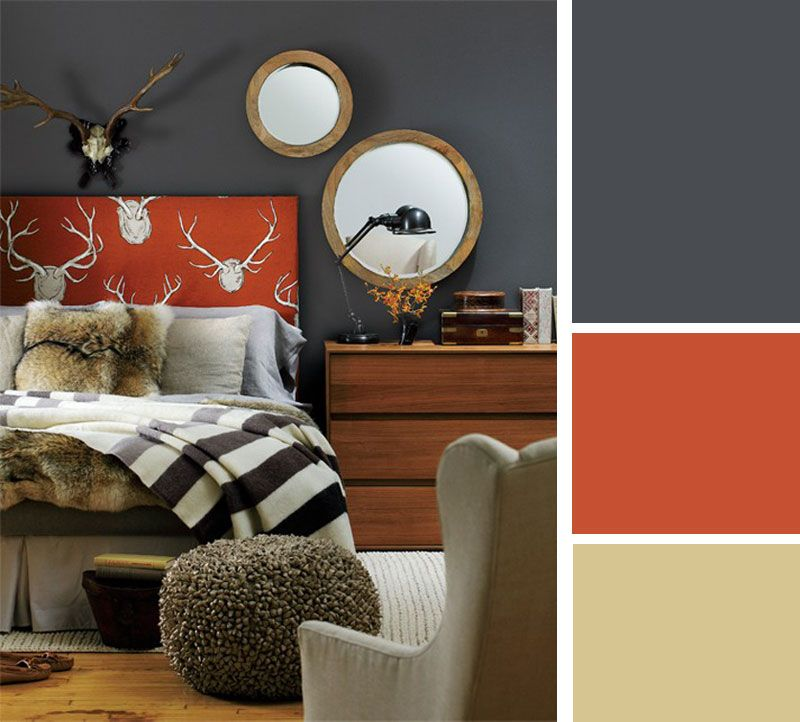 Lovely Color Palette: Cozy Grey. Cabin ChicChalet ChicBaysBlanketsGrey Orange  BedroomBurnt Orange Living ...