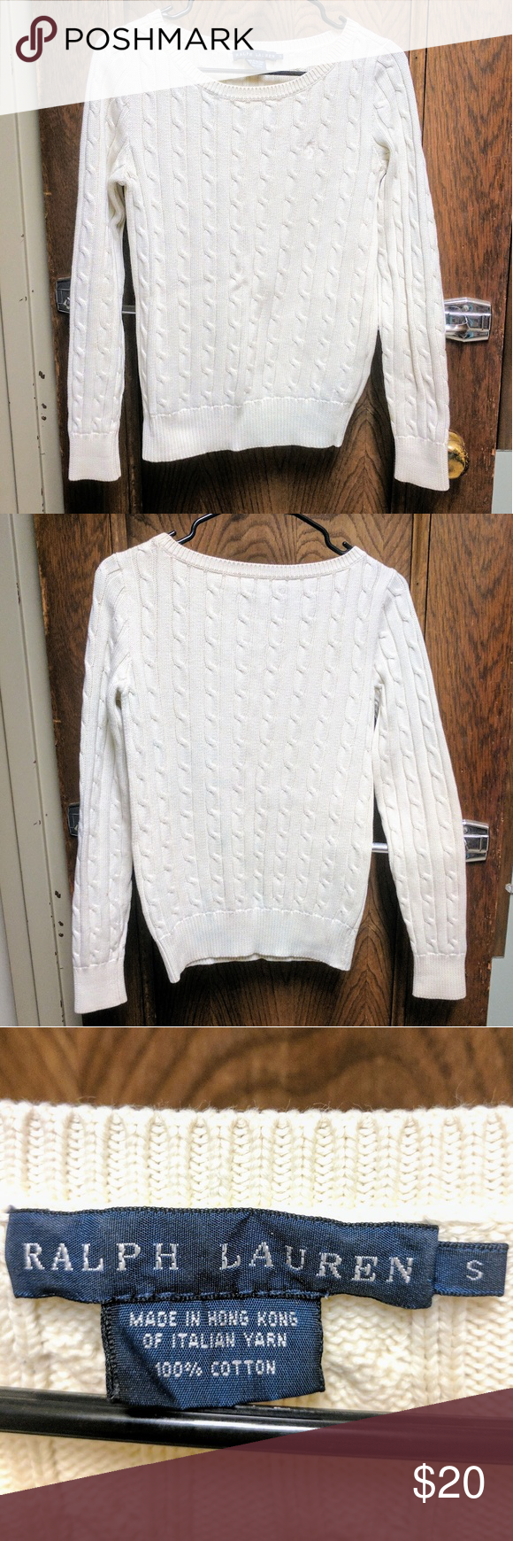 Warm & Cozy Italian Cotton Sweater This item is used but in great ...