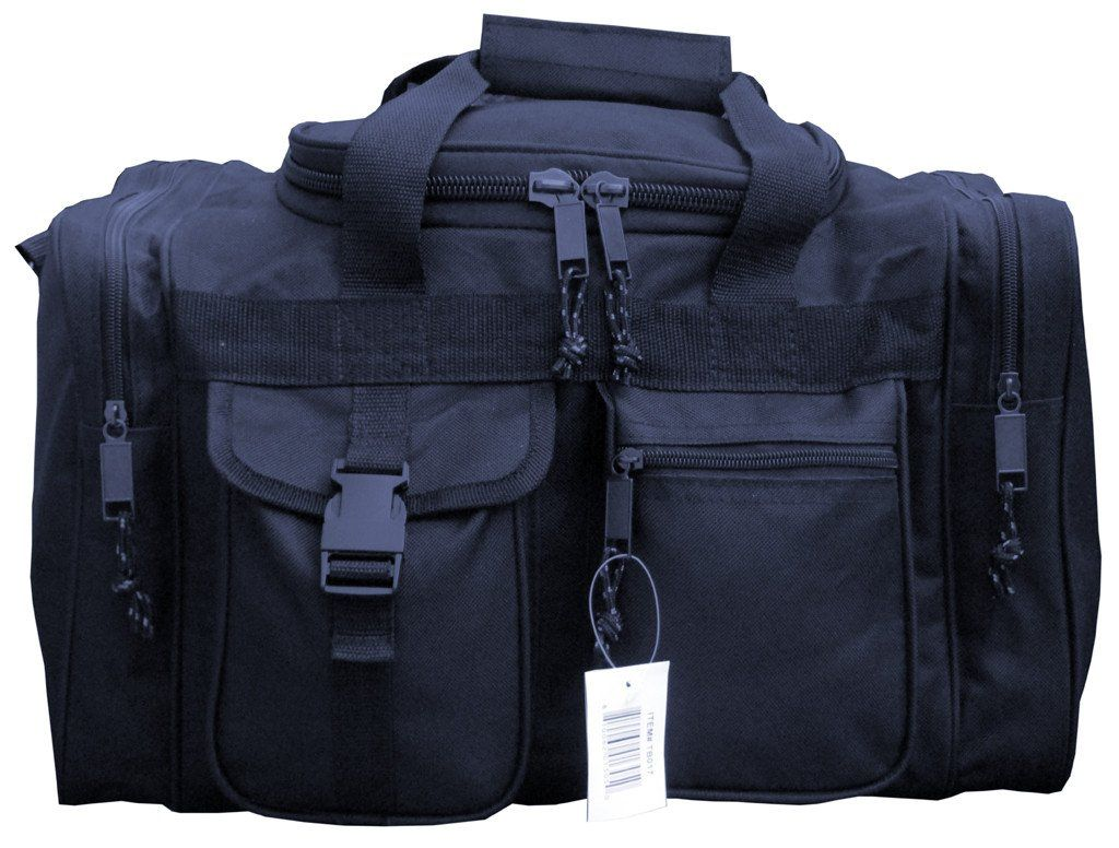 25edd4f752 17 Inches Black SWAT Police Duffle Duty Bag Hunting Carry On Luggage Light  Range