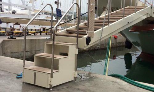 Palma STP Shipyard It is Folding dock steps Palma STP Shipyard made for Athena.