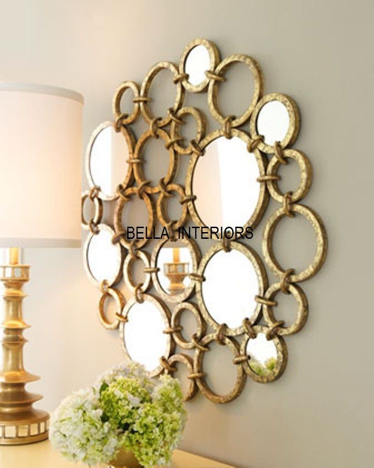 Metal Circle Wall Decor details about new neiman marcus metal gold mirror ring circles