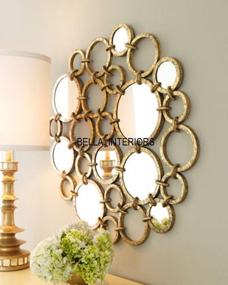 New Neiman Marcus Metal 36 Gold Mirror Ring Circles Wall Art Modern Horchow Circle Wall Art Mirror Wall Art Round Wall Art Decor