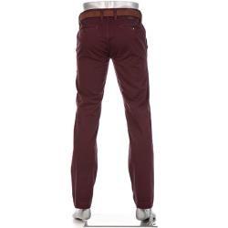 Alberto Herren Chino-Hose Lou, Regular Slim Fit, Pima Baumwolle, bordeaux rot Alberto #cottonstyle