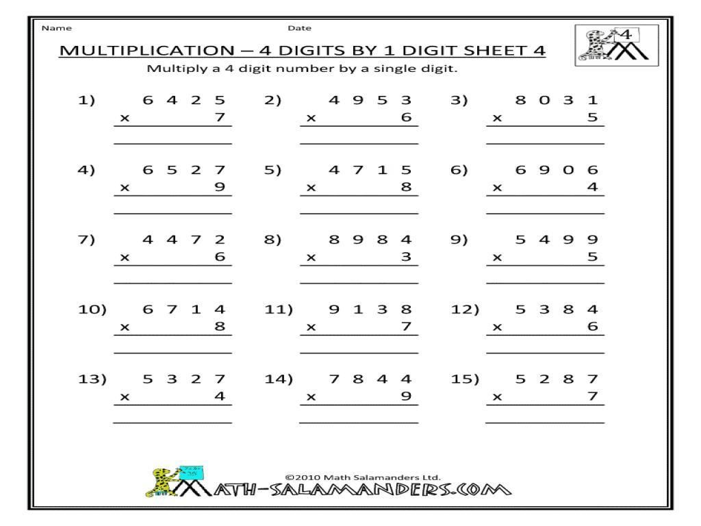 10 Free Printable Double Digit Multiplication Worksheets