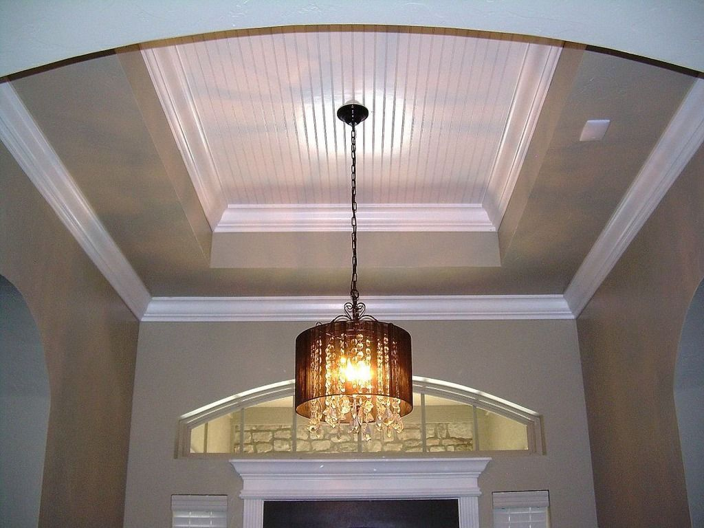 Tray Ceiling With Beadboard At Entry Master Bedroom Ideas Pinterest More Tray Ceilings