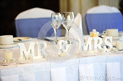 Exceptional Bride And Groom Table | Bride And Groom Top Table Stock Photos   Image:  25899993