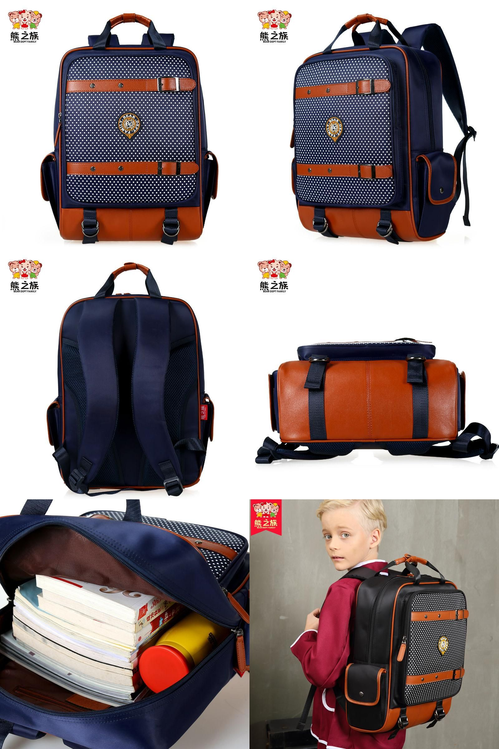 Visit to Buy] Orthopedic Primary School Bags Students Boys Book ...