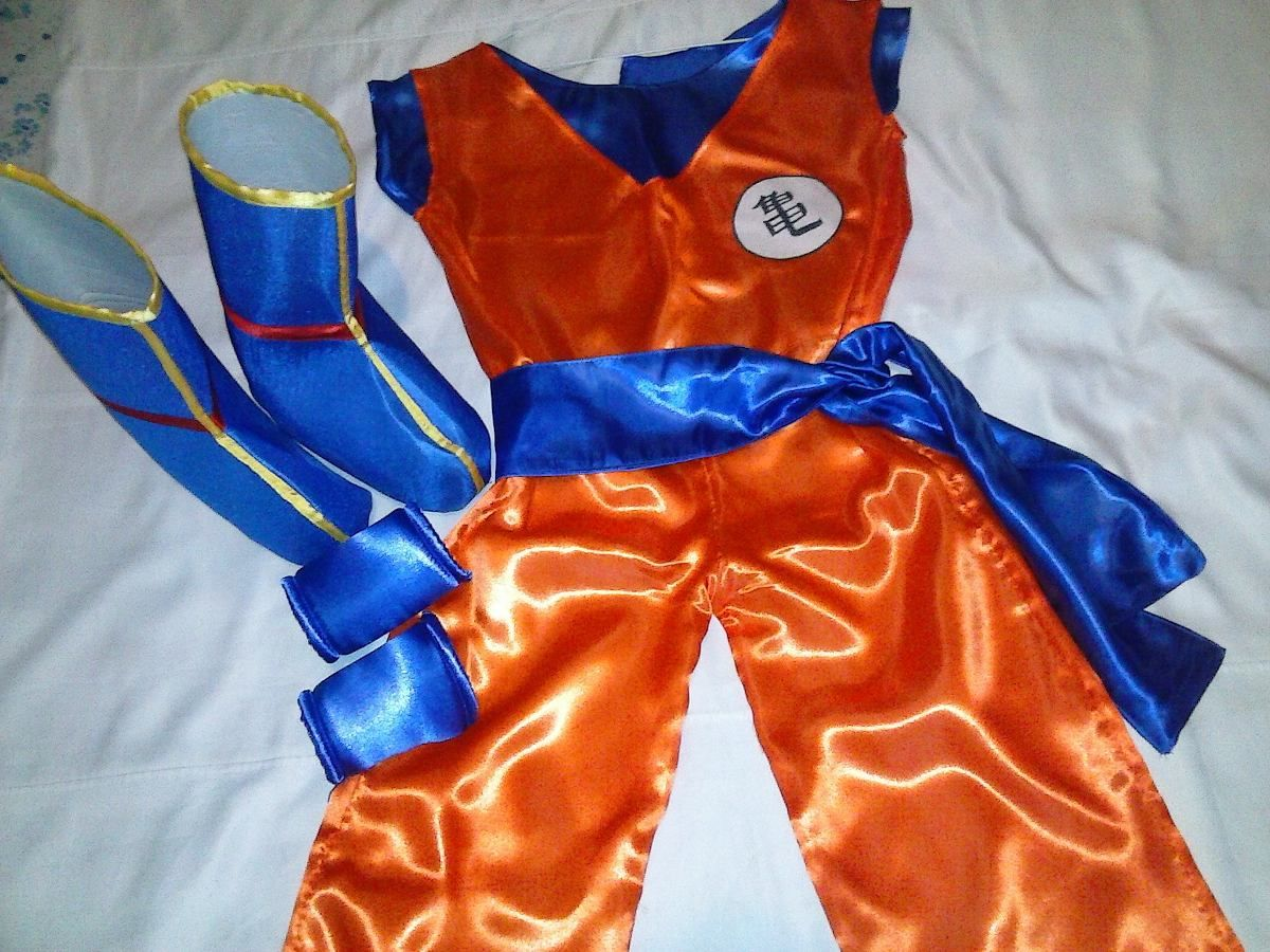 Disfraz Cosplay Goku Incluye Botas Hermoso 1 200 00 Disfraz De Goku Pasteles De Goku Piñata De Goku