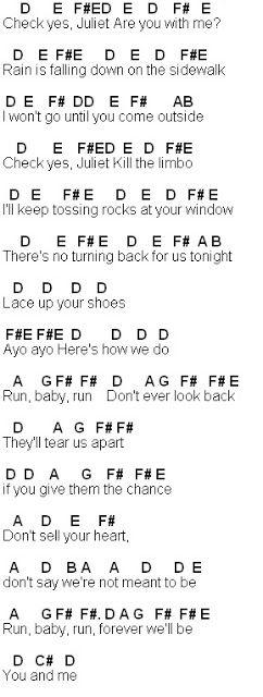 Flute Sheet Music: Check Yes Juliet | Flute sheet music, We the ...
