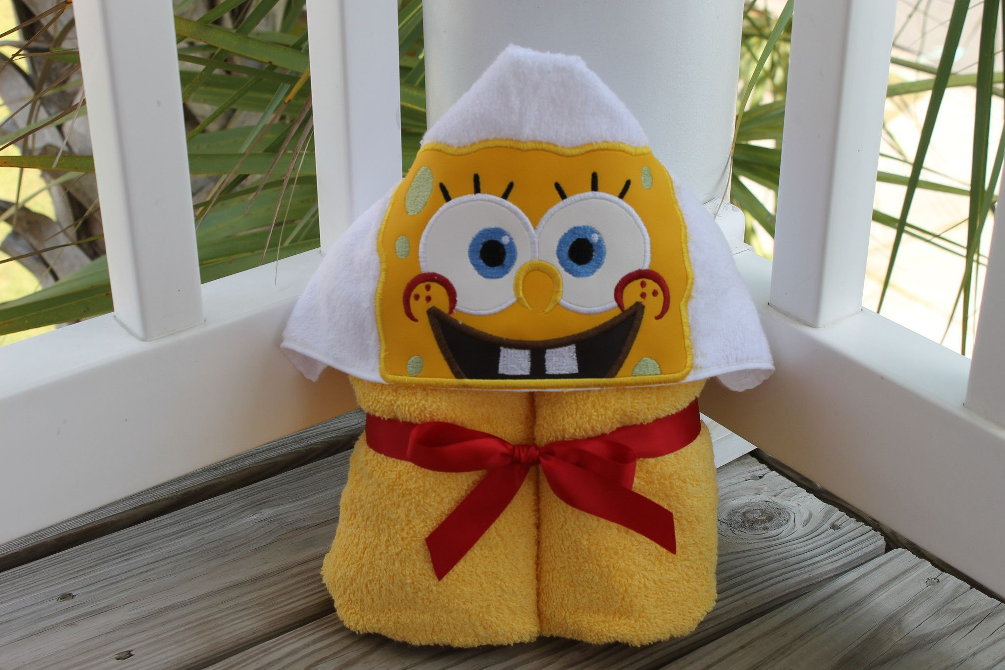 Sponge Bob Hooded Towel - beach, pool, fun, play, blanket ,dress- up ...