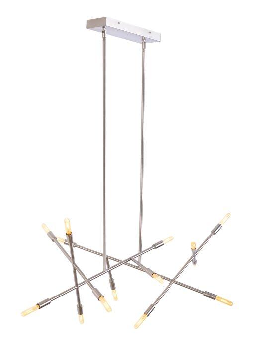 Lbl lighting line wave 2 fourteen light linear suspension pendant lighting multi light pendants contemporary