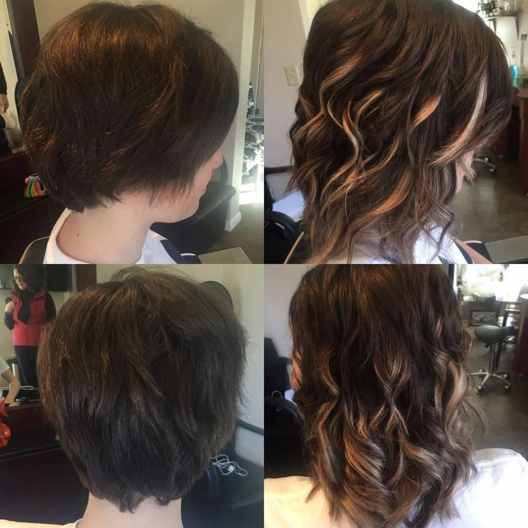 Before and after tape-ins on very short hair! #beforeandafter