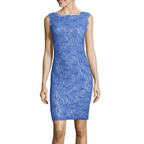c8473cc5 Scarlett Sleeveless Sequin Lace Sheath Dress - JCPenney | Style ...