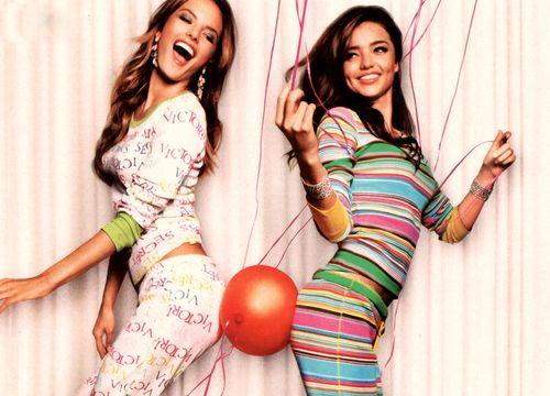 2 Sexy Girls in Pajamas   victoria, secret, girls, sexy, pijamas ...