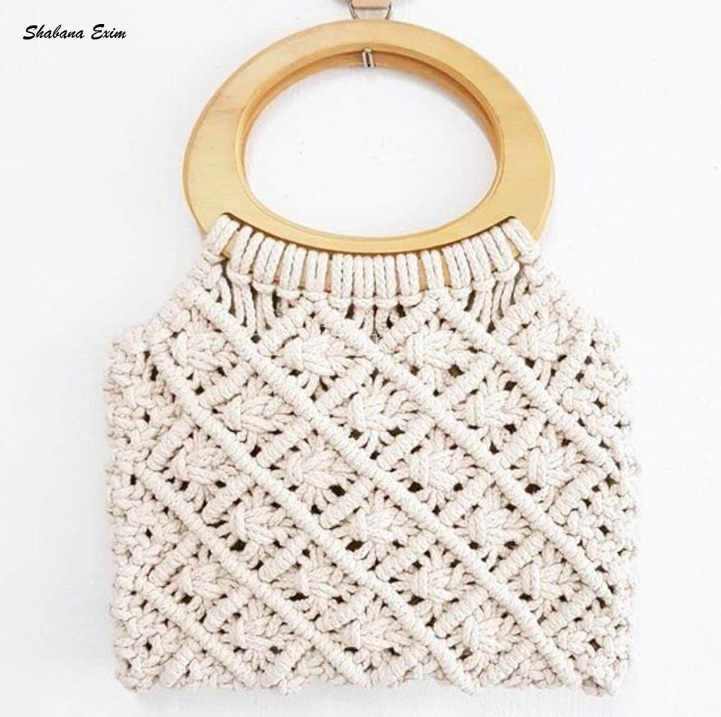 Photo of Indian Cotton Macrame Bags Bohemian Beach Bag Shopping Handbags
