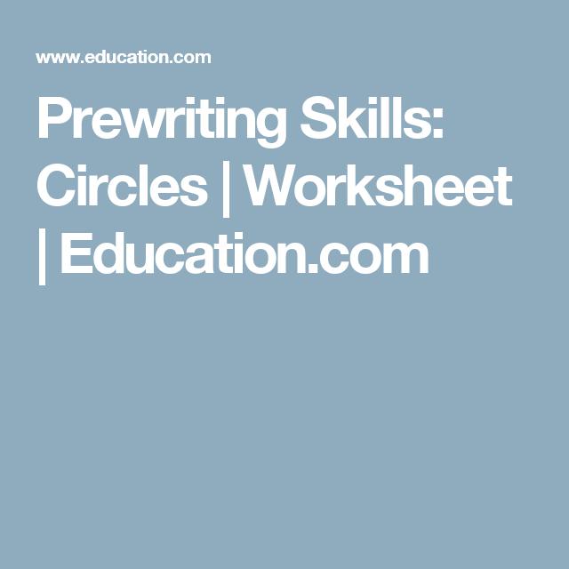 Prewriting Skills: Circles | Worksheet | Education.com