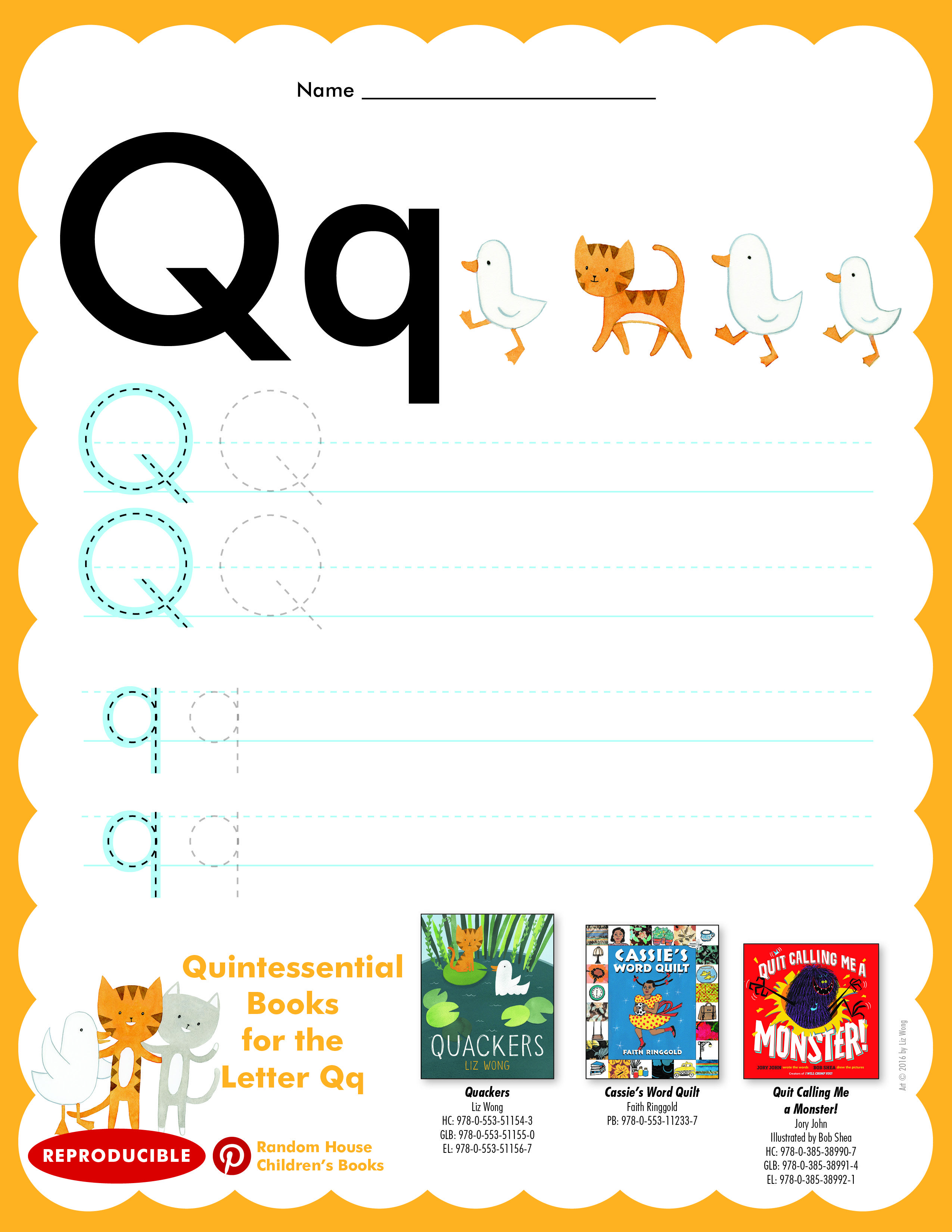 Have Students Practice Writing Letter Qq Then Read