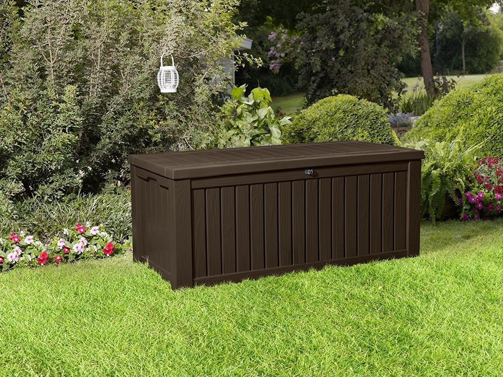Details about 150 Gal Outdoor Storage Bench Patio Deck Box