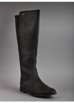 17f16e182 Lacoste Women s Rosemont 5 CLW Leather Tex Boots in Black  PintheCroc