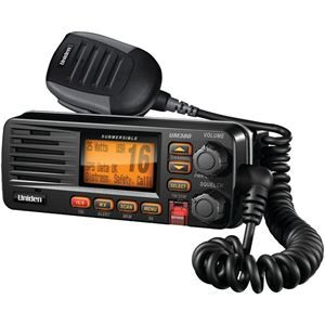 Uniden Fixed Mount Vhf And 2way Marine Radio Black