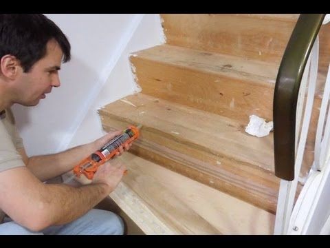 New Treads For Old Stairs Laminate Stairs Stairs Repair Basement Stairs