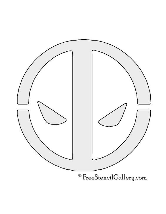 Deadpool logo stencil comic book hero symbols logos deadpool logo stencil pronofoot35fo Images