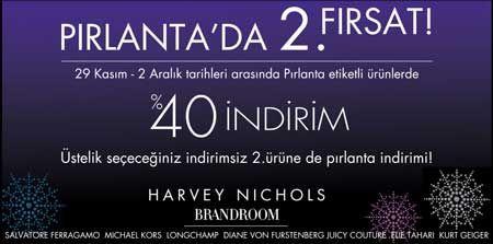 Harvey Nichols'ta Pırlanta Etiketli Ürünlerde %40 İndirim