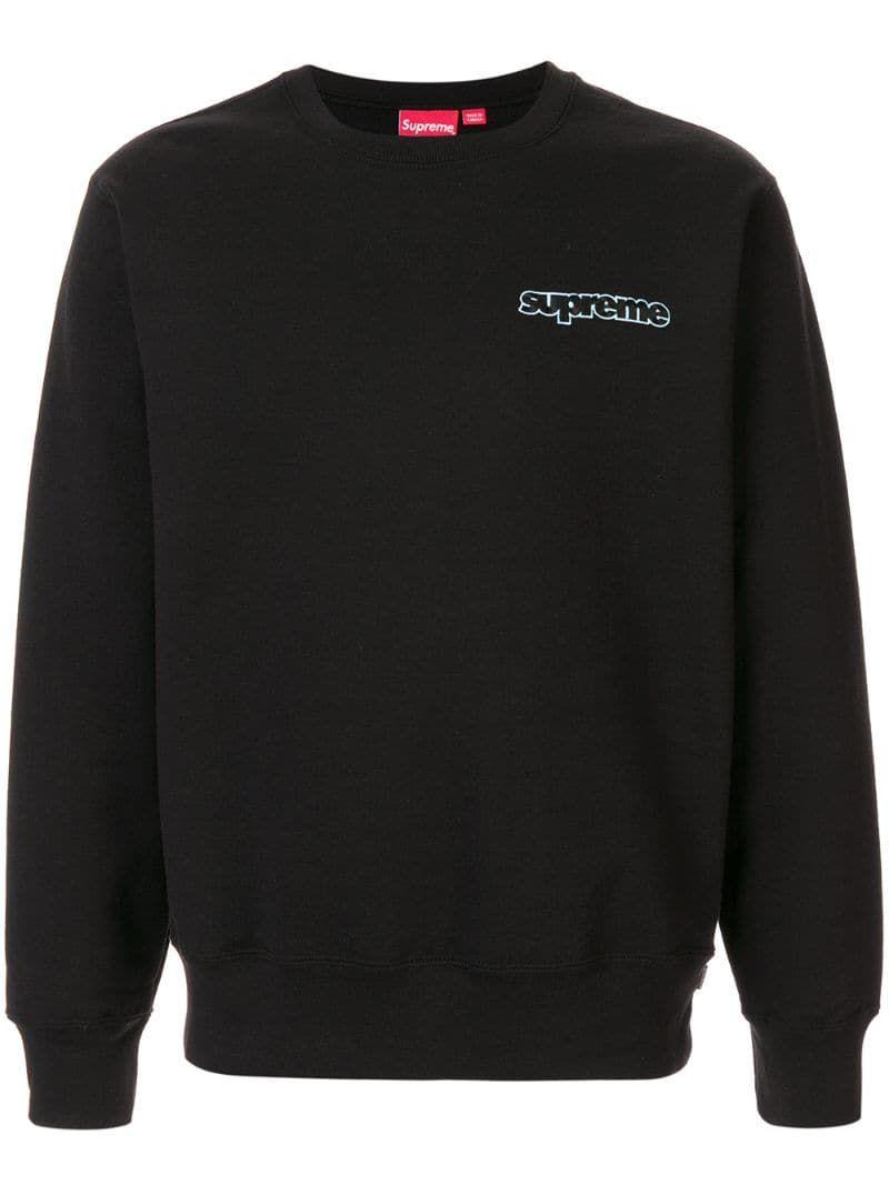 Supreme Connect Crewneck Sweatshirt In Black Modesens Crew Neck Sweatshirt Sweatshirts Black Sweatshirts [ 1067 x 800 Pixel ]