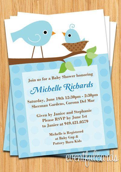 Cute bird baby shower invitation pinterest baby bird shower cute bird baby shower invitation filmwisefo