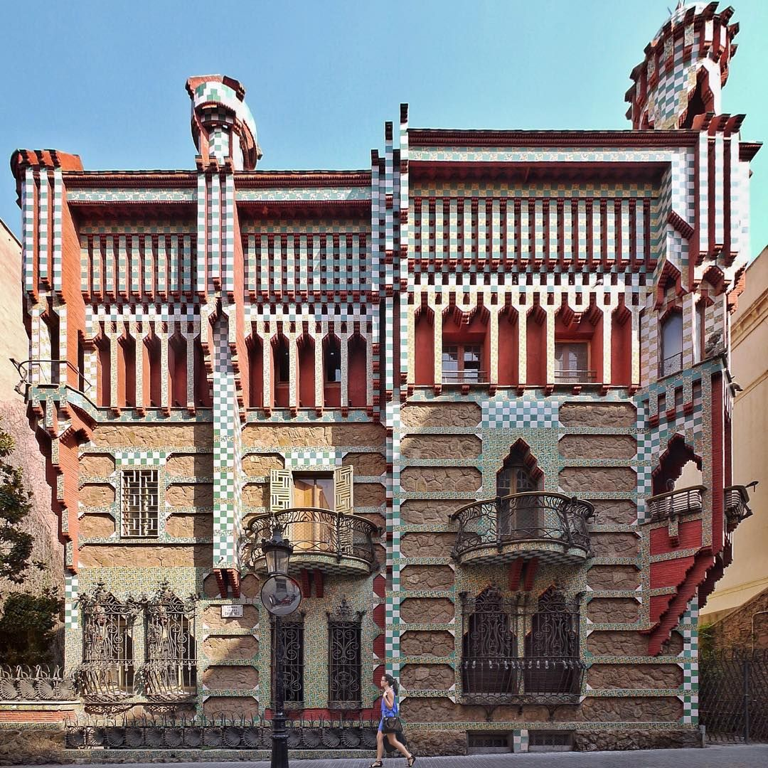 Casa vicens antoni gaud 1883 88 barcelona barcelona spain pinterest gaudi antoni - Casa vives gaudi ...