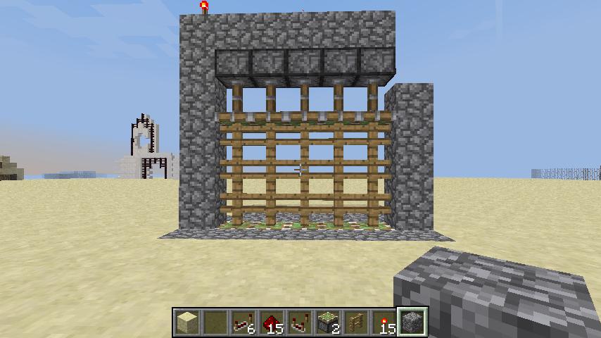Easiest Way To Build Piston Portcullis Redstone Castle Gate