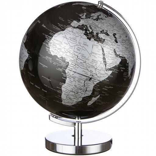 svart vit jordglob