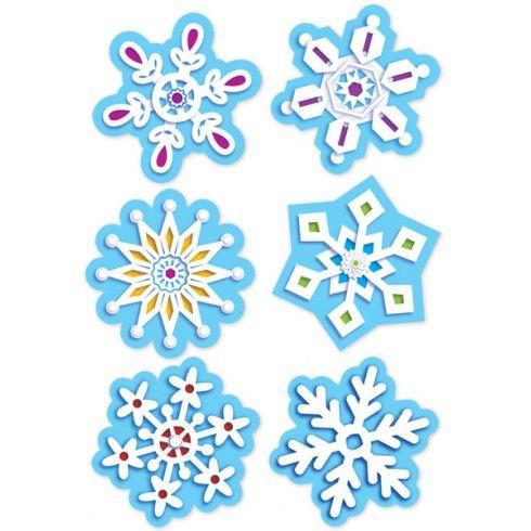 Pegatinas con motivos navideños con copos de nieve Stickers