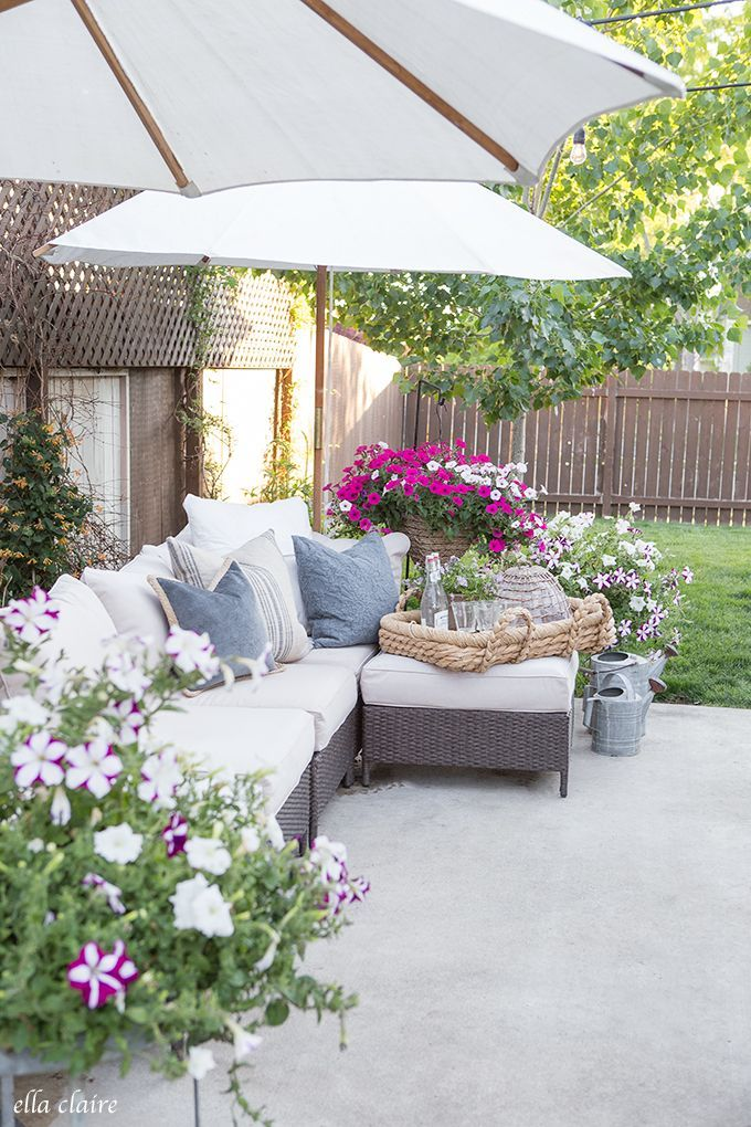 Sprucing Up The Patio | Hanging Baskets And Potted Plants   Ella Claire